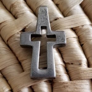 Pewter Cross with Cut-out